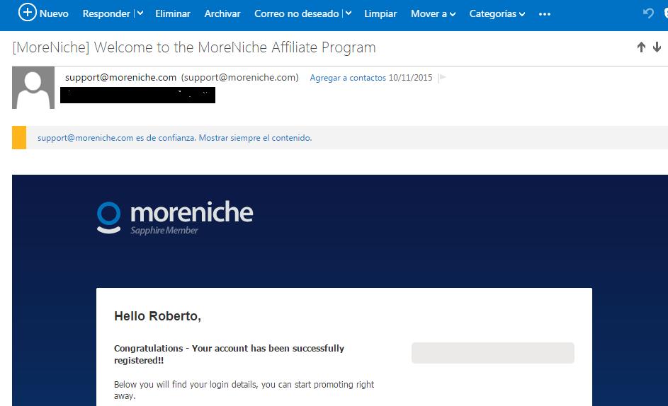 SizeGenetics aprobo mi solicitud a su programa de afiliados el 10/11/2015